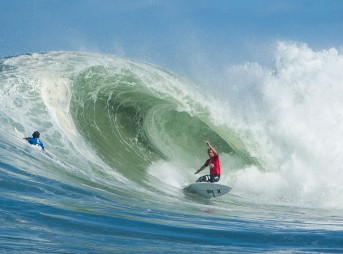 Coming into Portugal, a lot can happen. John John Florence of Oahu, Hawaii won the Quiksilver Pro France, defeating Jadson Andre Florence. Photo: ASP/Poullenot
