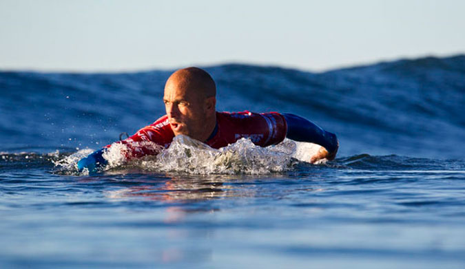 Kelly Slater, paddle power. Photo: ASP/Rowland