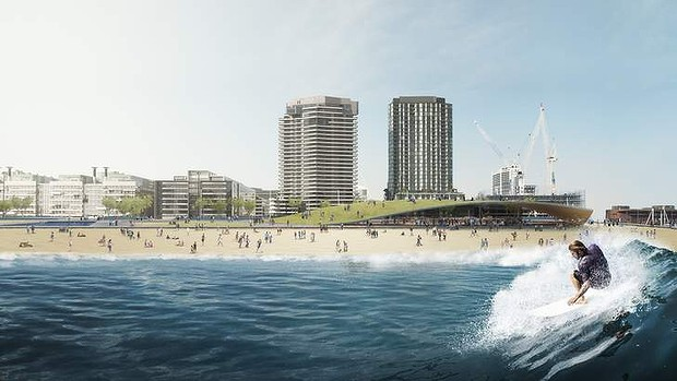 The view to the beach. Source: Damian Rogers Architecture, Arup and Squint/Opera