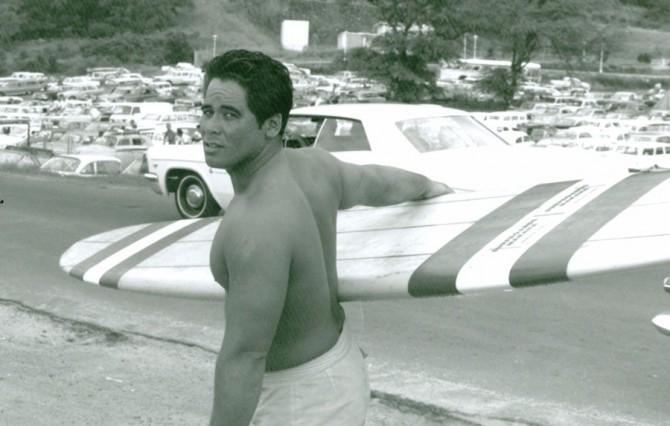 Ben Aipa (24) at Makaha Beach on the westside of Oahu. Photo: Courtesy of Ben Aipa