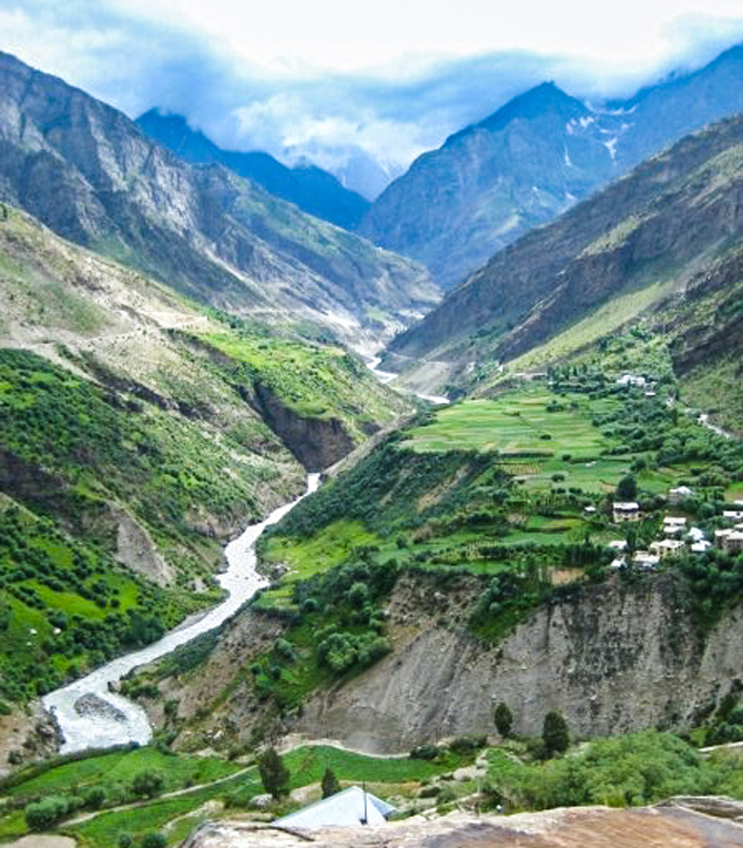 The valley at Keylong, Himachal Pradesh. Photo: John Robison IV