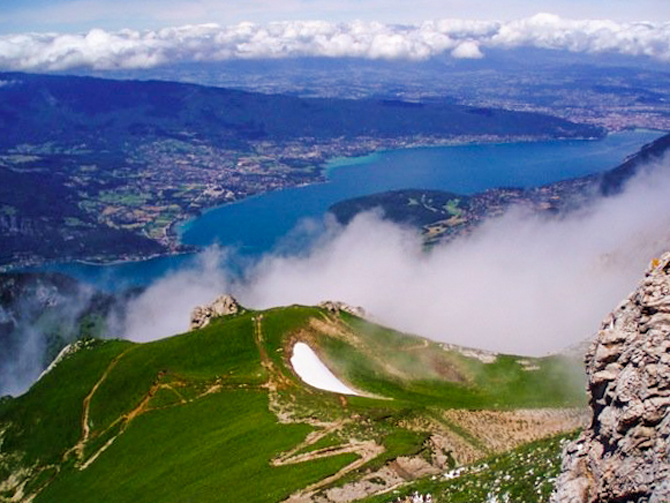 Perched above Lake Annecy on La Tournette. Photo: John Robison IV