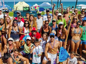 Everyone sharing the stoke down at Deerfield Beach, FL. Photo: Surfers for Autism