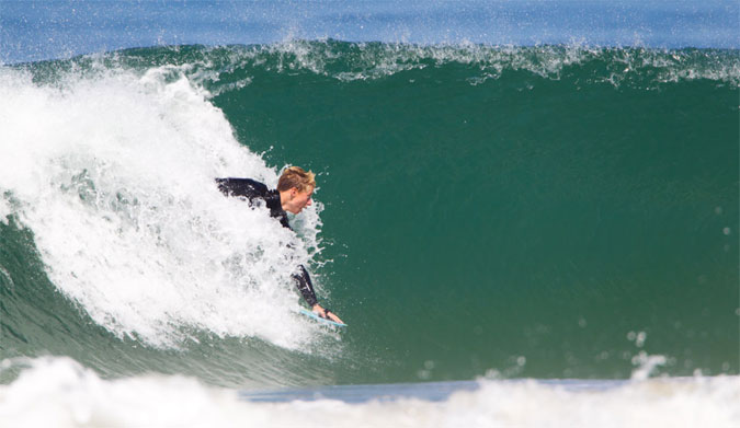 Kolohe Andino getting a few on his newest edition to his quiver. Photo: Jason Ke