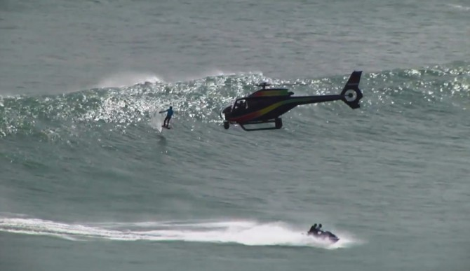 Mr. Laird Hamilton. Always doing something epic that requires a helicopter. Good on him!