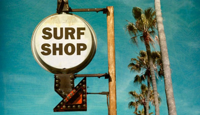 Don't let your local surf shop fall off the map. Photo: Shutterstock