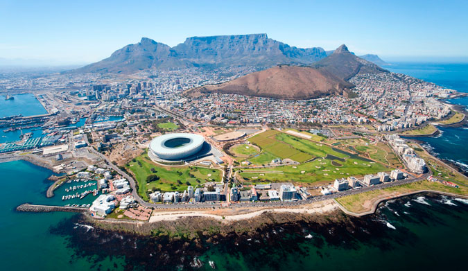 Cape Town from the sky. Photo: Shutterstock