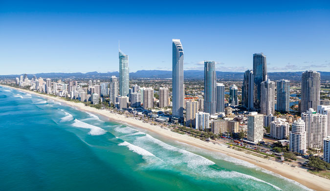 Surfers Paradise on the Gold Coast, Queensland, Australia. Photo: Shutterstock
