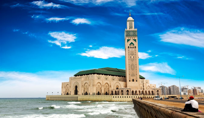 The Hassan II Mosque in Casablanca, Morocco. Photo: Shutterstock