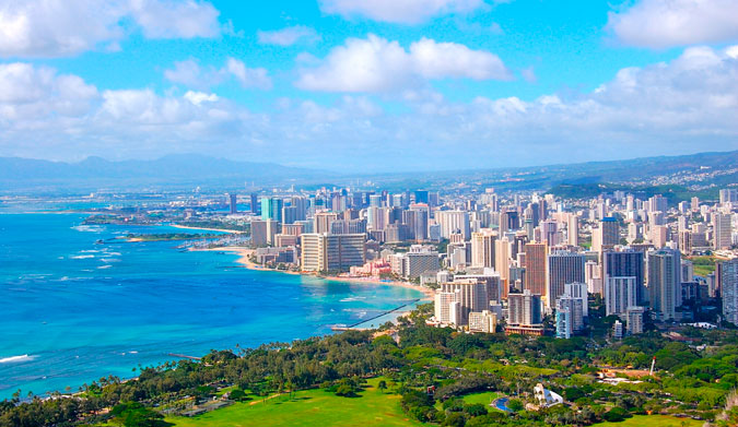 Honolulu from the peak of Diamond Head. Photo: Shutterstock