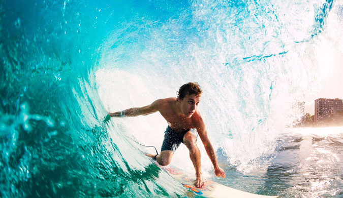 Getting barreled is healthy. How great is that? Photo: Shutterstock