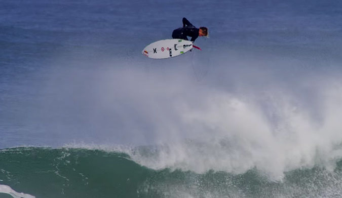 "Kolohe Andino, (you little rascal, you), snuck into what CJ Hobgood called ""the best wave ever ridden."""