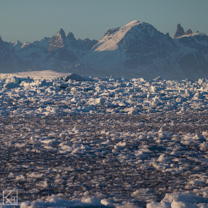 Pack ice in Greenland. Photo: Kt Miller.