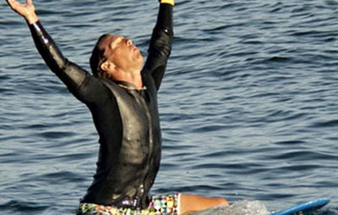 Matthew mCConaughey also prays for waves.