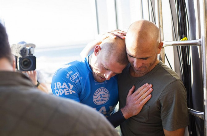 Mick Fanning and Kelly Slater. They're alive.