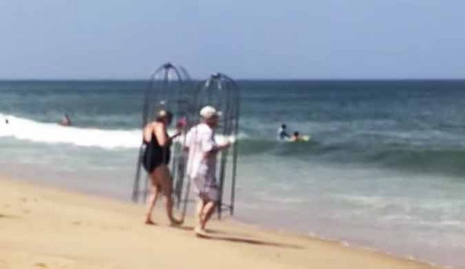 This couple came up with their very own innovative solution to shark attacks.