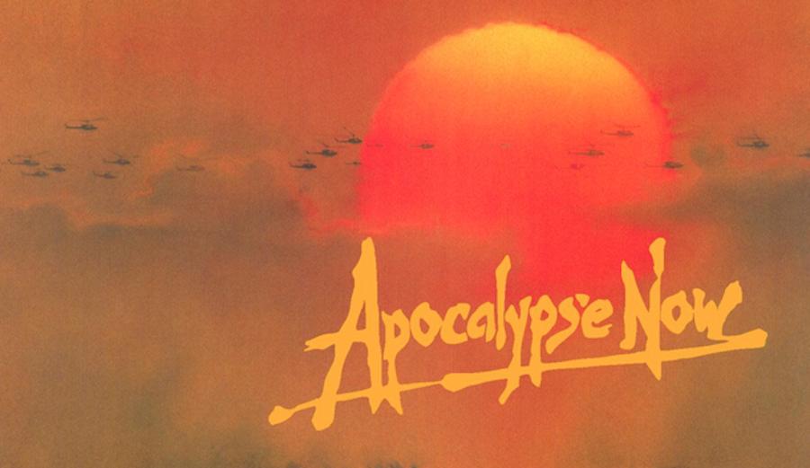 Francis Ford Coppola's iconic 1979 Apocalypse Now starring Martin Sheen, Marlon Brando and Robert Duvall.