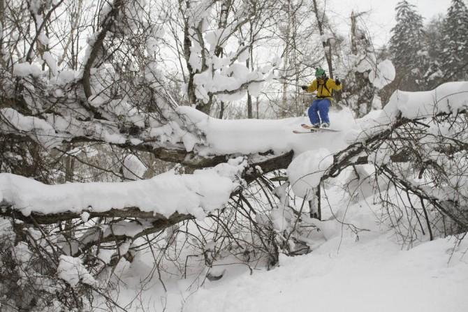 The author skiing in Japan, photo ©Hayden Buck (haydenbuck.com)