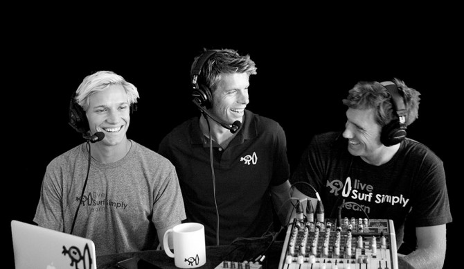 Ru Hill and the boys in studio for the Surf Simply podcast.
