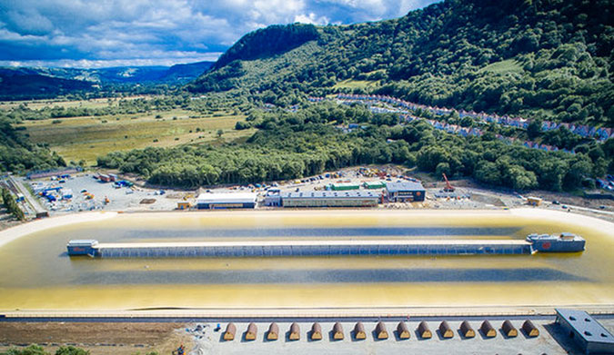 """""""Speak to anyone in the lineups here this week, and the bubble has already burst."""" Photo: Surf Snowdonia"""