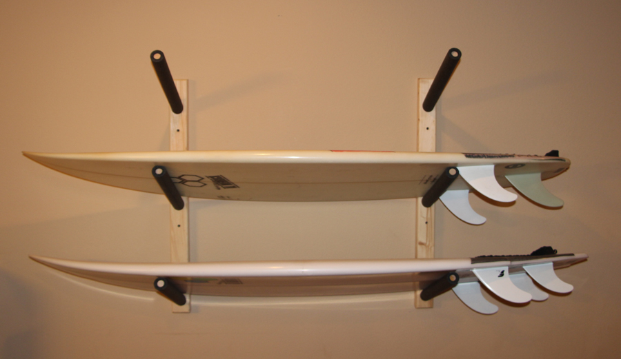 Your boards deserve a good home, like this indoor surf rack.