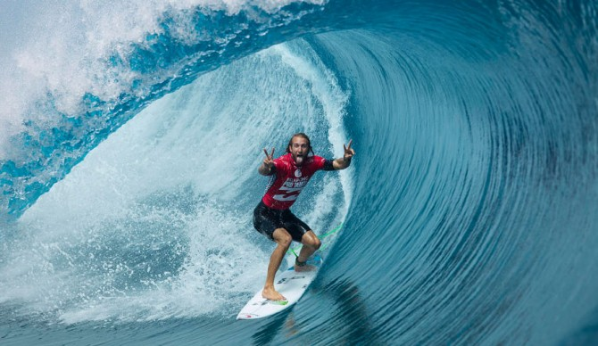 Owen Wright, 2014 Billabong Tahiti Pro. Photo: WSL / Kristin Schultz