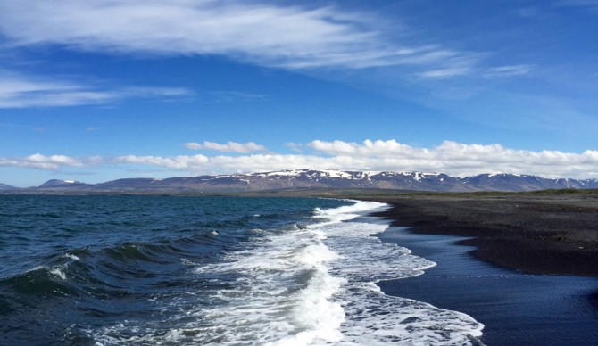 Even pristine waterways and sparsely populated coastal waters contain microplastics. ASC adventurer Pavel Cenkl captured this photo on Húnafjörður on Iceland´s north coast during his Climate Run. This clean shot of the Arctic Ocean offers a sharp contrast to the Atlantic Ocean off of the islands southern coast. Cenkl noted that this water was littered with debris from fishing boats and abandoned shipwrecks. Samples that Cenkl took from both oceans are currently being analyzed for microplastics concentration. Photo credit: Pavel Cenkl