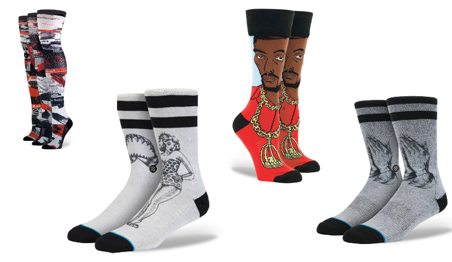 Stance has successfully flipped the traditional white sock industry on its head with collaborators creating vibrant and personal pairs.