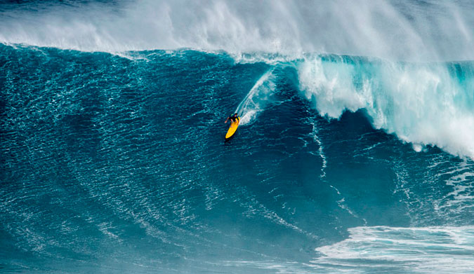 Mark Healey. Surfing waves like this takes preparation... and Healey knows a thing or two about how to do it.