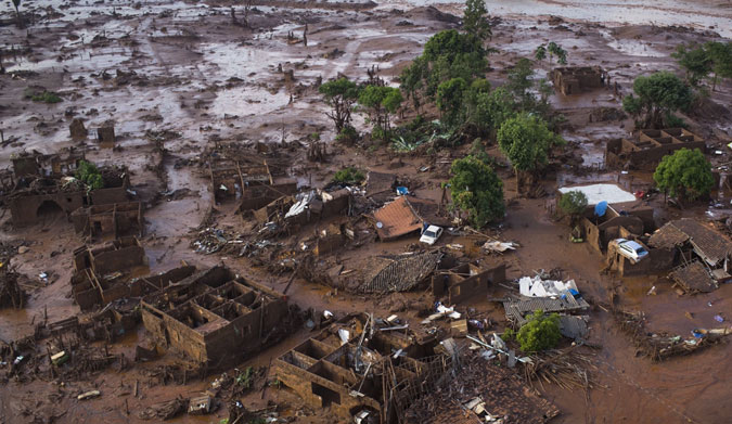 """The town of Bento Rodrigues, Brazil, was decimated in what was the start of the """"worst environmental disaster in Brazil's history."""" Photo: Felipe Dana/AP"""