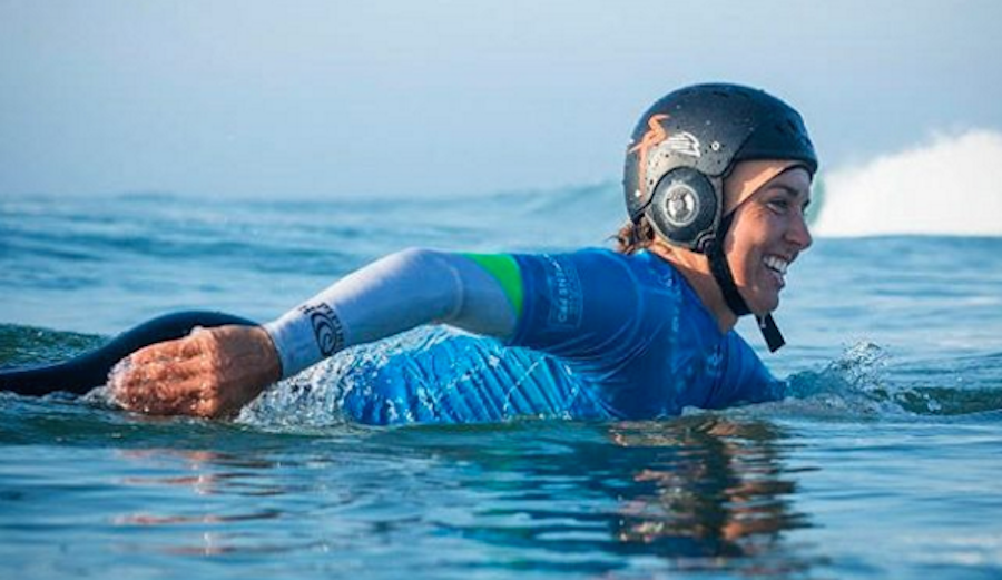 After bursting her eardrum in Fiji, Sally has had a rough road to recovery. But throughout it all, she's new found strength and confidence. Photo: @sally_fitz