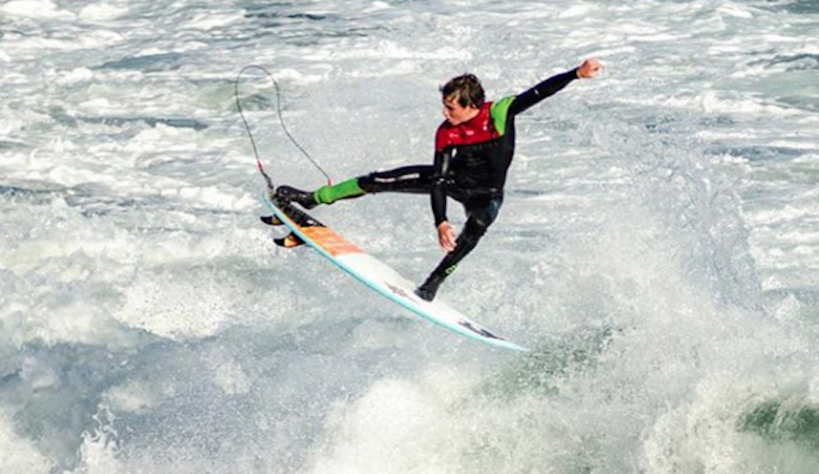 Sam Coffey is clocking in with the contest's top speed. Photo: @samcoffey9