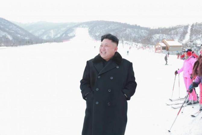 Kim Jong-Un visits the Masik Peak ski resort. Photo: North Korea's Korean Central News Agency (KCNA)