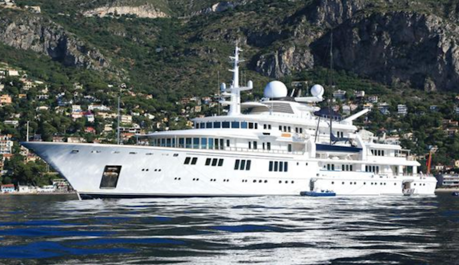 "The 300-foot ""Tatoosh,"" owned by billionaire Microsoft co-founder Paul Allen. Photo: Boat International"