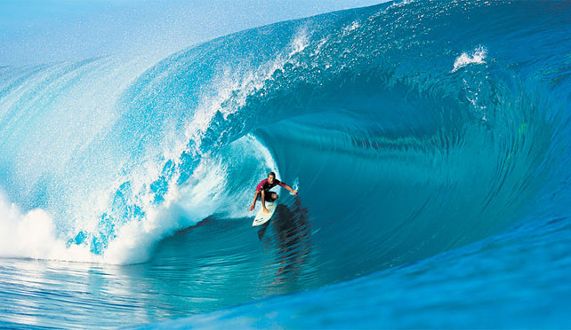 Cory Lopez Pioneers the Barrel @ Teahupoo, Tahiti. Photo Courtesy: Tom Servais