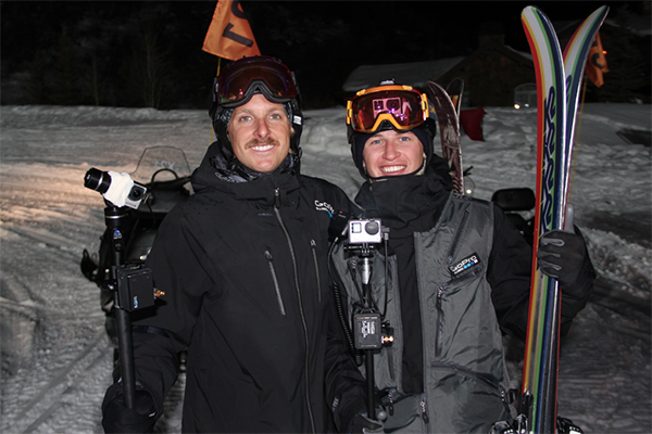 Farro, left, and Justin Mayers after the X Games Big Air event.