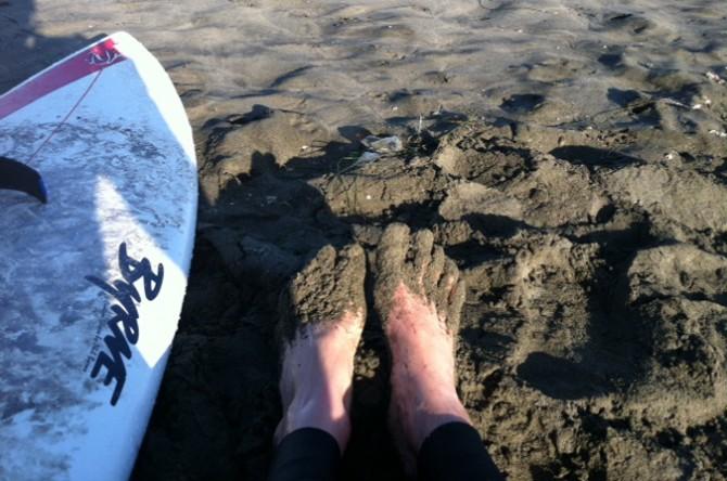 When surfing San Francisco, booties are a good call. Photo: Neko Catanzaro