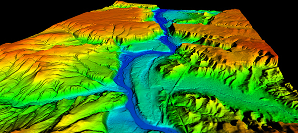 "A ""Digital Elevation Model"" created using aerial drone data.]"