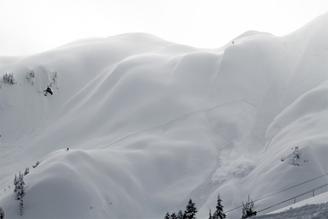 "The recent avalanche of ""The Arm"" at Mt. Baker. Photo: Steve Andrews"