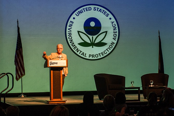 Administrator Gina McCarthy of the EPA delivering the opening keynote at SIA 2016.