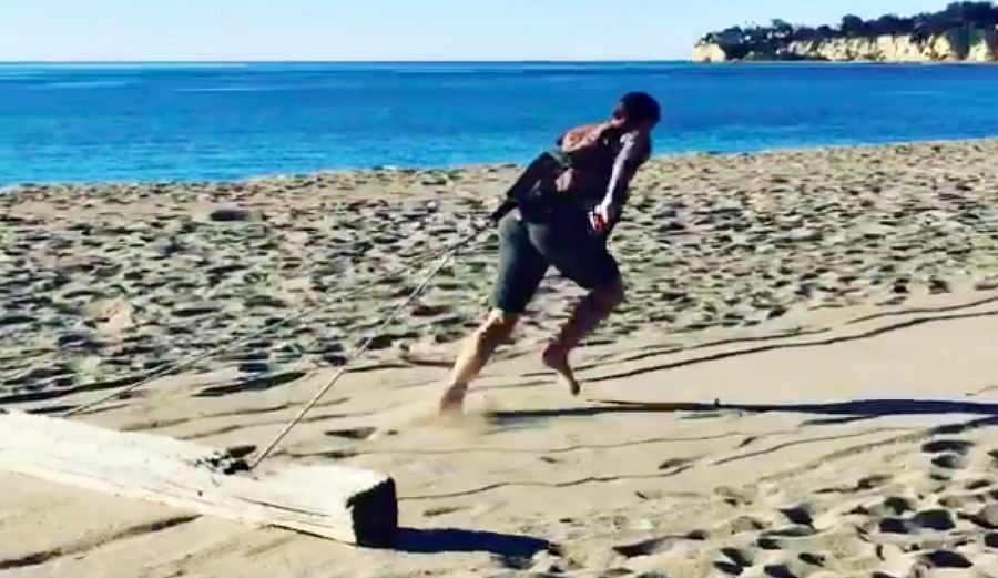 How's This Log Dragging For a Workout?   The Inertia
