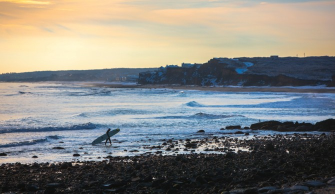 Like most surf towns in the Northeast, Montauk changes in the winter months. It has to. Photo: James Katsipis