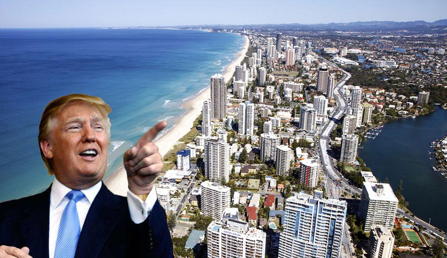 """It looks better that way!"" -Donald Trump"