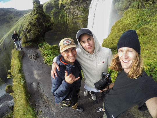 Chris Burkard, Justin Bieber, and Rory Kramer...chillin' in Iceland.