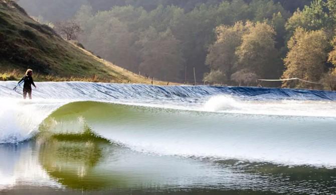 The Wavegarden prototype in Spain. Photo: Wavegarden