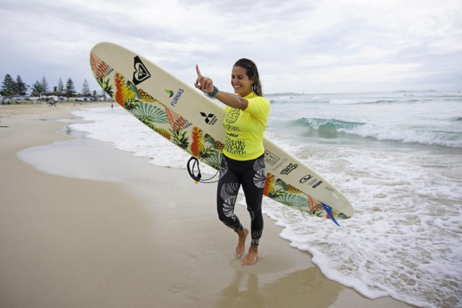 Chloe Calmon is currently ranked third on the World Surf League's Women's Longboard Tour.