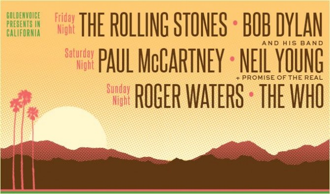 Lineup reported by Desert Trip's Instagram.