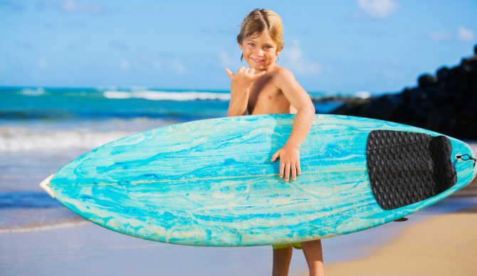 You can learn a lot from a grom. Selflessness is definitely at the top of that list. Photo: Shutterstock