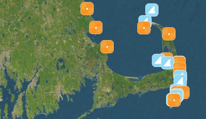 This App Is Basically Waze for Shark Sightings | The Inertia Cape Cod Shark Sightings Map on