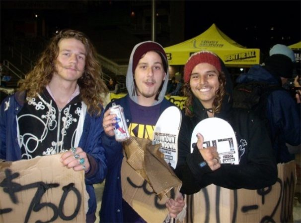 Left to right: Zac Marben, Jake Olson-Elm and Jonas Michilot, outside Seattle in 2007